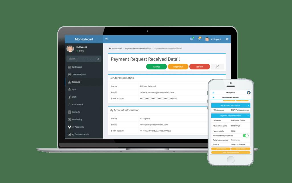 Demander un paiement avec MoneyRoad