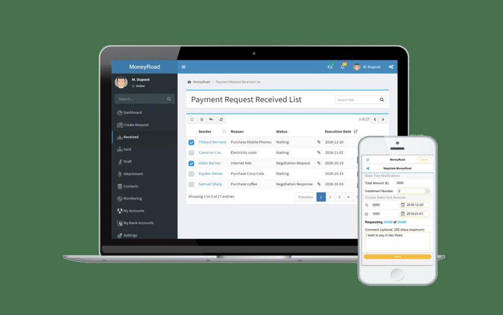 Planifiez et envoyez un paiement avec MoneyRoad
