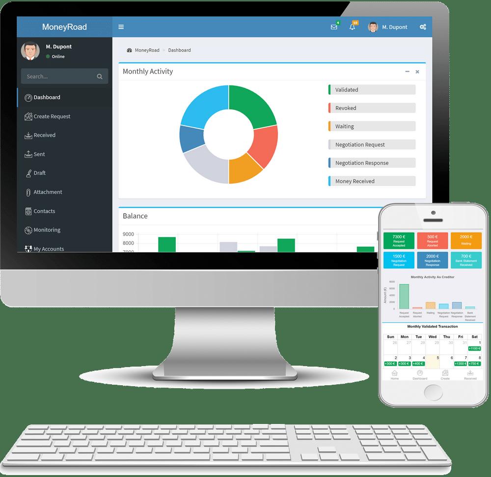 Surveillez comptes et activités dans MoneyRoad